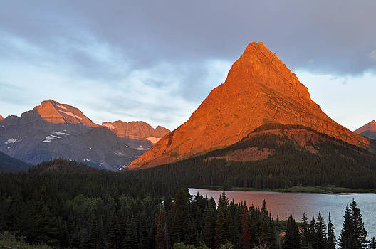 Sunrise over Glacier's Swiftcurrent Lake by Bruce Gourley