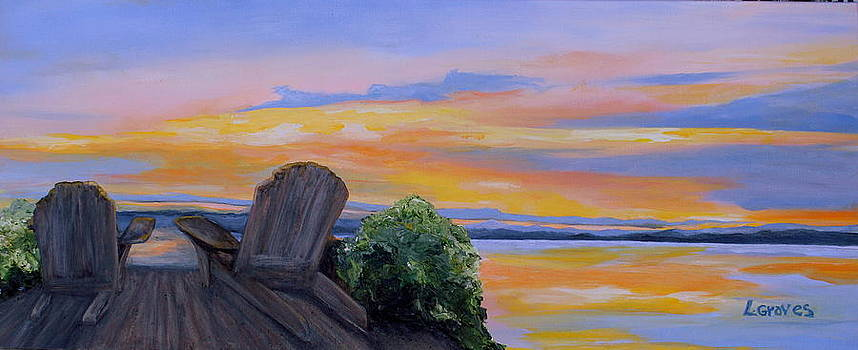 Sunrise Over Lake Champlain by Lisa Graves