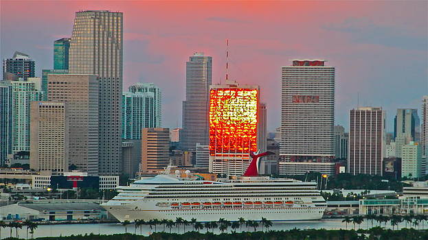 sunrise over Miami 1 by Ronald  Bell