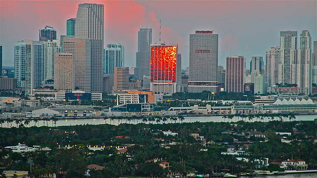sunrise over Miami 700 by Ronald  Bell