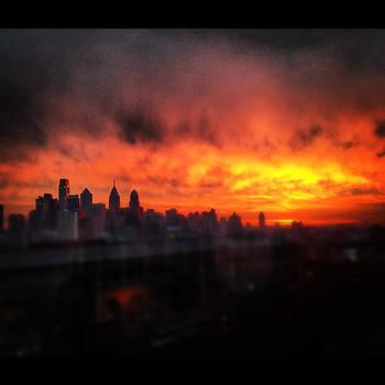 Sunrise Over Philadelphia by Liz Baronofsky