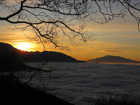 Sunrise Over the Clouds 2 by Diana Poe