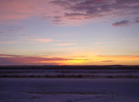 Sunrise Over The Snow by Sandi Owens