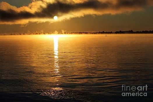 Sophie Vigneault - Sunrise over the St Lawrence River