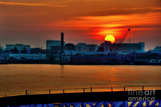 Sunrise over the Thames by Donald Davis