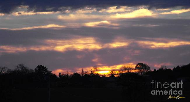 Sunrise over Tomlinson Hills 2 by Lorraine Louwerse
