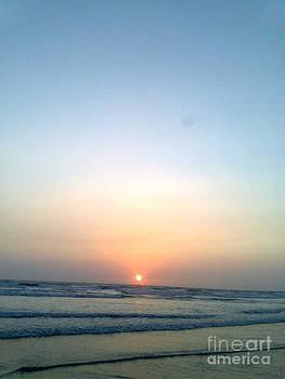 Sunset And Sea by Bgi Gadgil