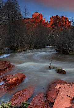 Sunset at Cathedral Rock by Dave Sribnik