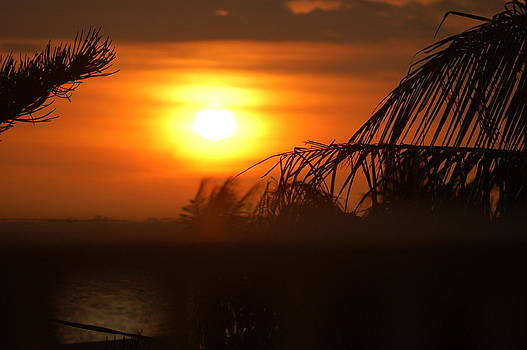 Sunset at Fort Meyers Beach by Helen Gehle
