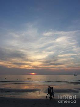Sunset at Kata Beach by Karin Ubeleis-Jones