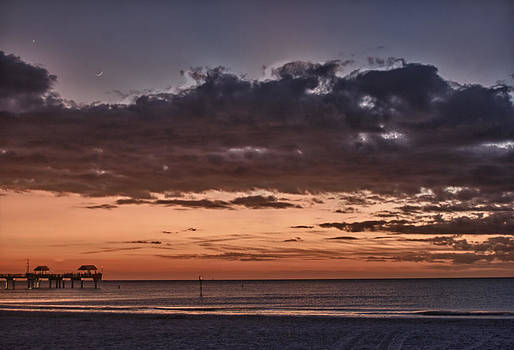 Sunset at the Beach by Chuck Bowser