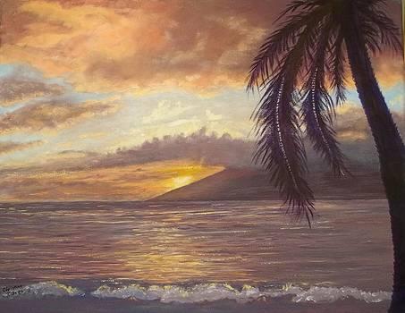 Sunset at the Maui House by Christine Krantz