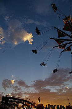 Sunset at the Monroe State Fair by Christine Burdine