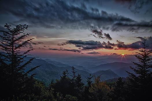 Sunset at Water Rock Knob by Karen Lawson