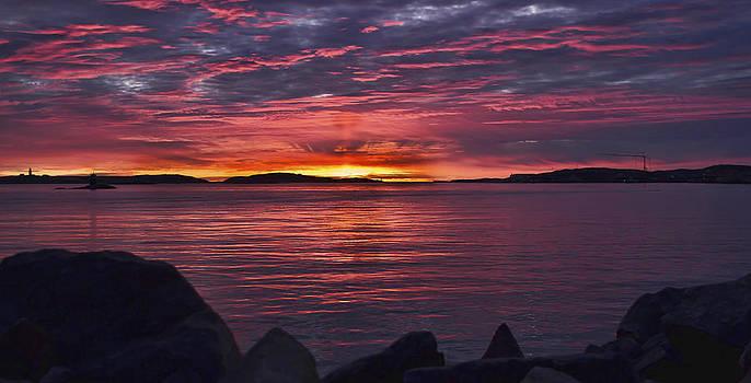 Sunset Bohuslan Sweden by Syssy Jaktman