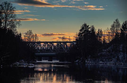 Sunset Bridge by Matti Ollikainen