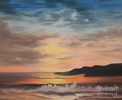 Sunset by the Sea by Gila Churba