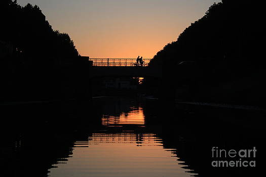 Danielle Groenen - Sunset Canal Silhouette