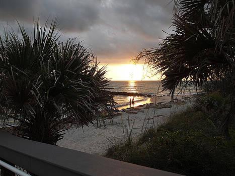 Sunset Casperson Beach by Leontine Vandermeer