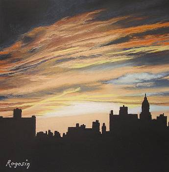 Sunset City from East 2nd Street by Harvey Rogosin