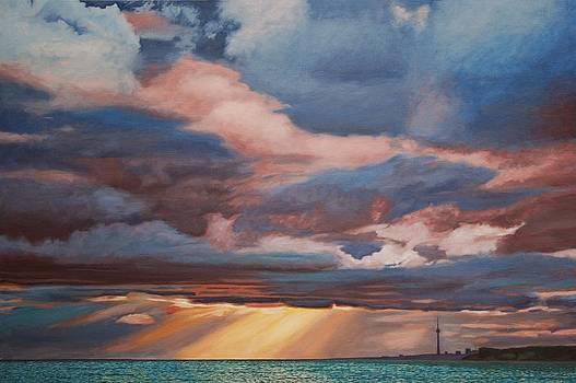 Sunset CN Tower by Allan OMarra