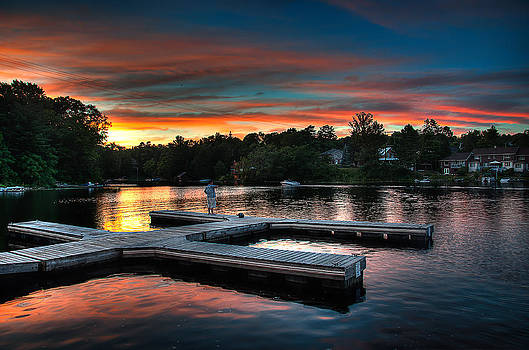 Sunset Dock by Jeff Smith