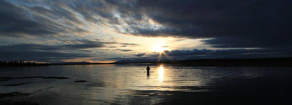 Sunset Fishing on the Kobuk by Kelly Turnage