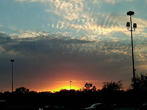Sunset From A Parking Lot by Michelle Jacobs-anderson