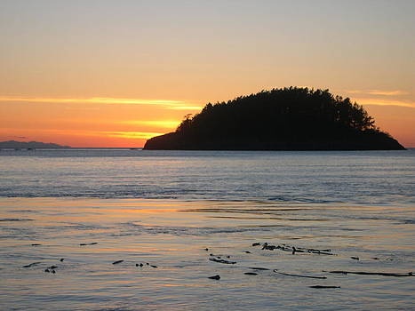 Sunset From Deception Pass by Cheryl Perin