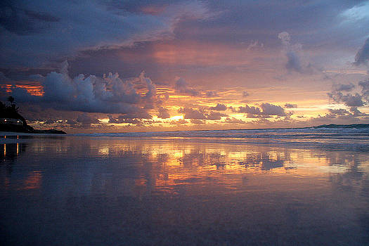 Sunset in Barbados by Stephen EIS