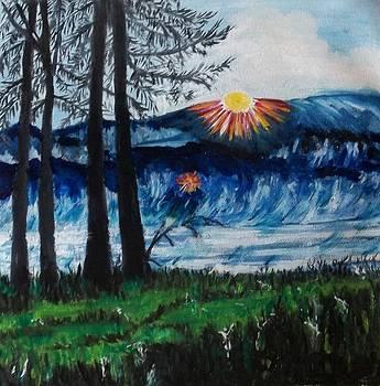 Sunset in Montana by Iris Devadason
