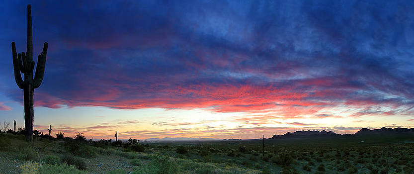 Sunset in the Superstition Mountains by Dave Sribnik