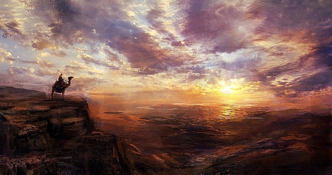 Sunset Jerusalem by David Cheung