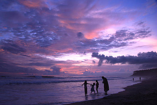 Sunset Kerala India by Pauline Cutler