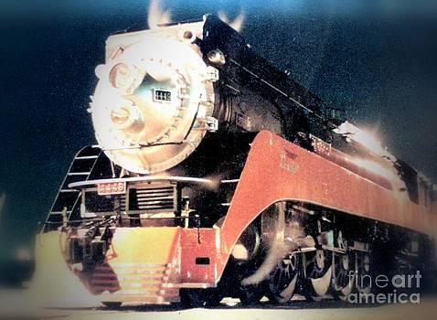 Sunset Limited Steam Engine Passenger Train by Marsden Burnell