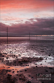 Sunset Lindisfarne Causeway by George Hodlin
