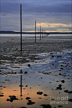 Sunset Lindisfarne Causeway No2 by George Hodlin