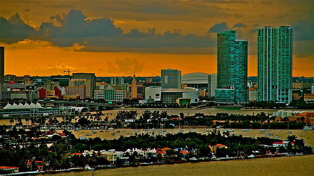 sunset Miami 2 towers by Ronald  Bell