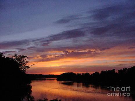 Sunset on Arkansas River by Art Hill Studios