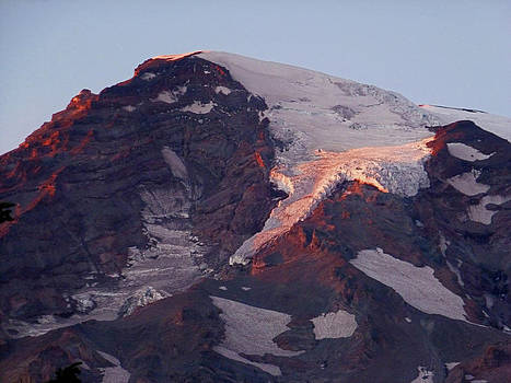 Sunset on Glaciers by Christine Burdine
