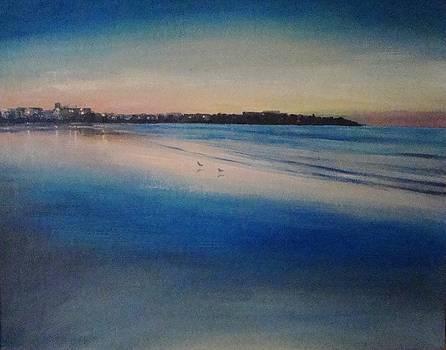 Sunset on Hampton Beach by Mark Haley