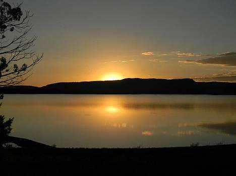 Sunset On Heron Lake NM by Daria Yesieva-Kartsinski