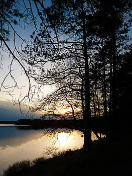 Terry Eve Tanner - Sunset on Lac du Flambeau