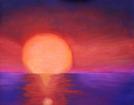 Sunset on Lake Erie by Karin Eisermann