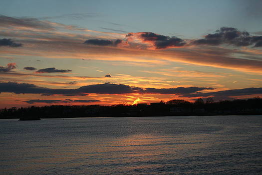 Sunset on Long Island Sound by Stephen Melcher