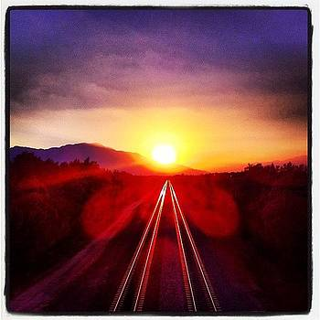 #sunset On Rails by Darin R  McClure