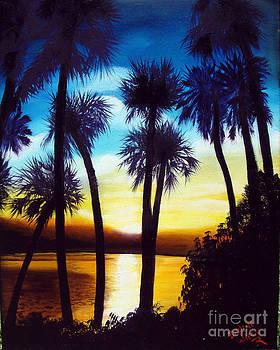 Sunset on the Banana River by Darlene Green