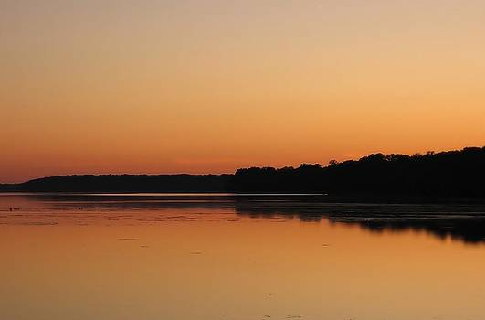 Sunset on The Potomac by Jim Goldseth