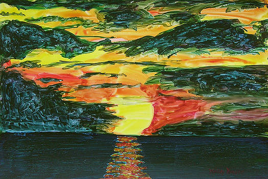 Sunset on Yupo by Mickey Krause