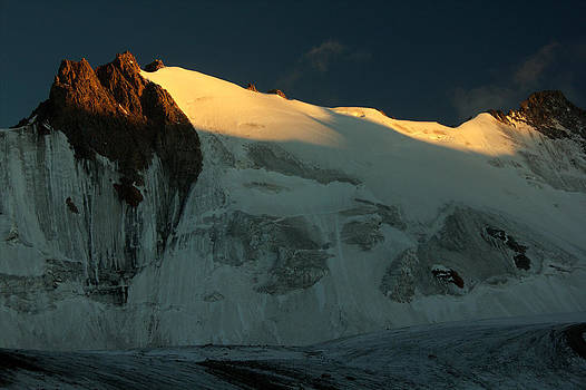 Sunset over Adygine glacier by Michal Cerny